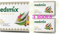 3 BARS! Medimix 125gm Ayurvedic Turmeric & Argan Oil Soap USA SELLER FAST SHIP