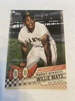 2020 Topps Series One Decades Best Willie Mays DB-6