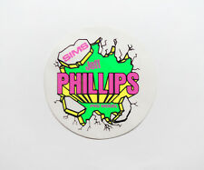 VTG 80's Jeff Phillips Breakout sticker on clear Sims Skateboards Vision Powell