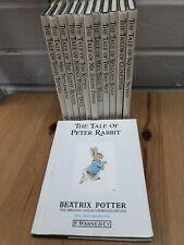 Vintage Peter Rabbit Beatrix Potter Set Of Books 1-12 1989 & Sleeves Collectible