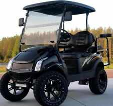 GOLF CART CLUB CAR BLACK ELECTRIC VEHICLE 4 PASSENGER CUSTOM LIFTED BUILD
