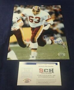 Fred Dean Redskins Signed 8 X 10 Photo W/ #63 + HOGS + SB XVII CHAMPS -SCH Auth