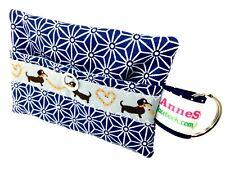 Kackbeutel Hundetüten Tasche Hundekotbeutel Spender Waste Bag blau retro