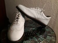Mens Leather Adidas White Classic Golf Shoes Size 11