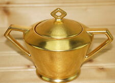 """Pickard Gold Encrusted Rose & Daisy Sugar Bowl, 2 1/2"""" with Lid #637"""