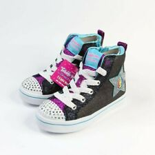 Skechers Girls Twinkle Toes Twi-Lites Patch Cuties Lite Up Sneakers Size 12 US