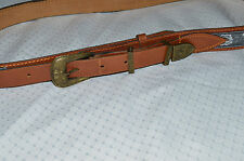 GIORGIO ARMANI Vintage leather and fabric belt size L