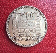 France - Superbe  Monnaie de 20 Francs 1938  Turin
