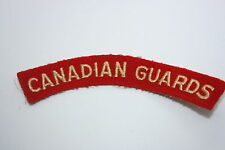 CANADA CANADIAN GUARDS CLOTH SHOULDER TITLE