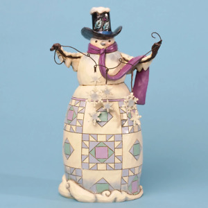 """Heartwood Creek - 25cm/10"""" Snowman with Snowflakes"""