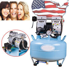 Noiseless Oil Free Oilless Air Compressor 30l 130lmin For Dental Chair Usa Ce