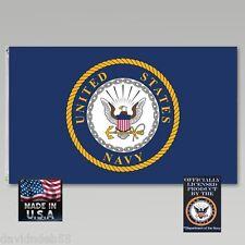 US NAVY NAVAL Seal Emblem Crest Official 3x5 Super-Poly FLAG Banner*USA MADE