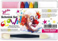 Schminkset Clown NEUF-Coiffure Maquillage Carnaval