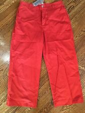 CHICO'S *NEW* Cropped Pants Ocean Beach Gulf Spicey Size 1