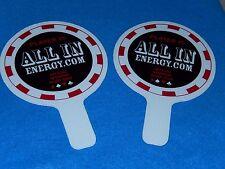 2008 WSOP-World Series of Poker ALL IN PADDLE-Genuine 10K MAIN EVENT Memorabilia