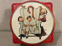 Vintage Norman Rockwell Snickers Limited Edition Christmas Empty Tin 1995 Santa