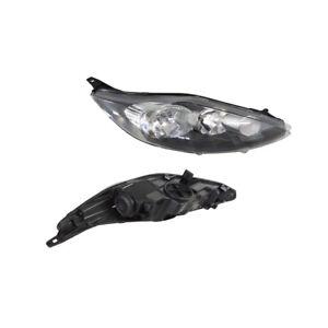 Headlight Right for Ford Fiesta WS/WT 09/2008-07/2013 Halogen Black/Chrome