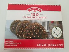 New Holiday Time 150 Clear Net Lights Green Wire Christmas Wedding