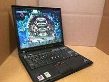 "IBM T42 Laptop Windows XP PRO SP 3 1GB RAM, 1.7GHz, 40GB HDD , 14"" Screen ATI"