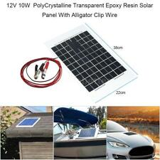 10W Watt 12V Solar Panel Charger Semi Flexible Off Grid For RV Home Boat F6E5