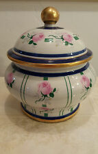 Manifattura Artistica Le Porcellane Handpainted Floral Jar, Italy, Certificate