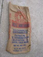 Vintage Triad Ranch Beans The Trinidad Bean Elevator DEnver COLO burlap sack