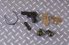 1/6 Scale DAMTOYS British Army in Afghanistan PISTOL, MAG, HOLSTER, GLASSES SET