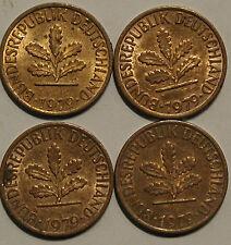 1 Pfennig 1979 D F G J Kompletter Satz