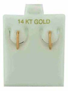 SOLID HOOP EARRINGS 14K ROSE GOLD * New With Tag & FREE Gift Box included *