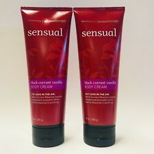 2 Bath & Body Works Aromatherapy Sensual Black Currant Vanilla Body Cream 8 oz