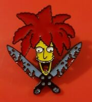 Simpsons Sideshow Bob Pin Enamel Metal Brooch Lapel Badge Kids Adult Gift