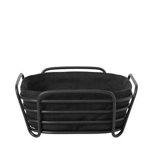 "Blomus Delara Basket Black On Black Small 8"" X 8"" - 63871"
