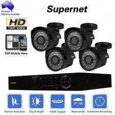 SUPERNET 8CH DVR Outdoor CCTV Video Security System 720p 1400TVL Camera