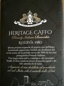 Brandy (Cognac?) HERITAGE CAFFO 1980  EXTRA Riserva, 36 Jahre alt, ITALIA - 42%!