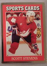 1991 Sports Cards Scott Stevens Team Canada #21 Hockey Card