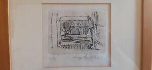 LUIGI BARTOLINI incisione 1960, numerata, firmata