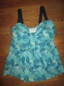 Womens MAZU SWIM tankini top bathing suit swimsuit sz 2X plus size NWT