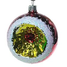 Reflector Glass Christmas Ball (glossy red)