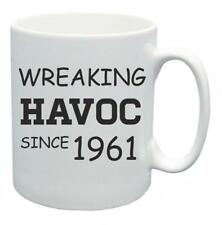 57th Novelty Birthday Gift Present Tea Mug Wreaking Havoc Since 1961 Coffee Cup