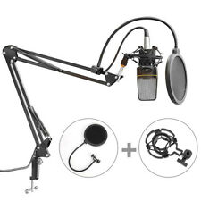 Microphone Suspension Boom Arm Stand Mic Holder Mount Pop Filter Table Clip