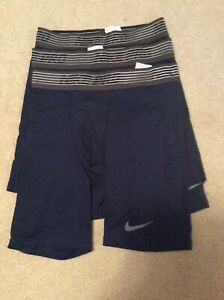 NIKE PRO MENS COMPRESSION SHORTS LOT OF THREE SIZE L