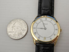 GENUINE PIAGET SOLID 18K YELLOW GOLD RONDE 31MM MEN'S DATE DRESS WATCH