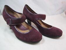 "Womens Croft & Barrow Sole (Sense) Ability Burgundy Shoes Sz. 7.5M 2 1/2"" Heels"