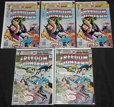 DC Bronze Age FREEDOM FIGHTERS 34pc Count Mid Grade Comic Lot FN-VF Uncle Sam