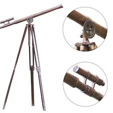 Griffith Nautical Harbor Master Antique Brass Floor Standing Tripod Telescope
