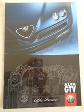 Alfa Romeo GTV range brochure Apr 1998 German text