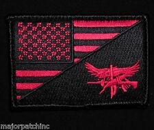 Swat Eagle Usa American Flag Us Army Morale Tactical Black Ops Red Hook Patch