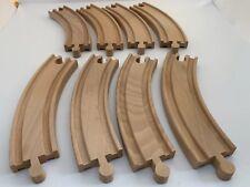 Wooden Train Track - 8 x LONG CURVES (17cm) fits Thomas ELC Brio BigJigs