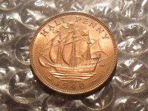 1940 George VI half-penny.