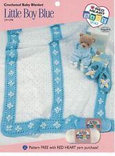 Crocheted Baby Blanket LITTLE BOY BLUE LW1298 using Red Heart Baby Sport Yarn